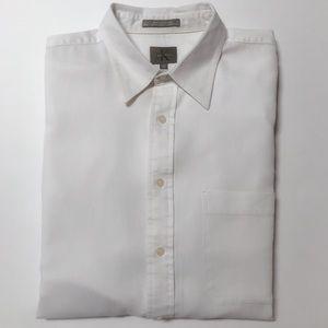 Calvin Klein Cream Button Down Dress Shirt